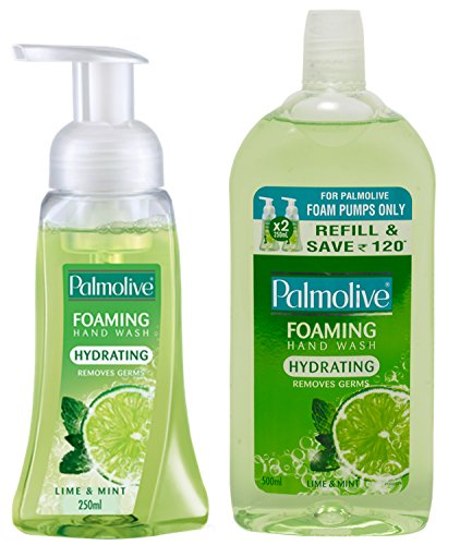 Palmolive Foaming Hand Wash - 250 ml (Lime and Mint) and Palmolive Foaming Hand Wash Refill - 500 ml (Lime and Mint)