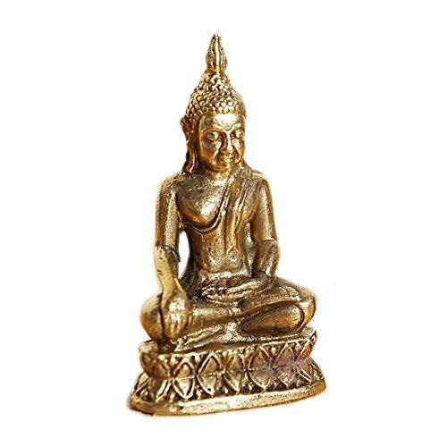 Buddha Figur Standfigur, 2 Stück, Messing – Spiritualität / Esoterik / Yoga / Meditation / Buddhismus / Religion