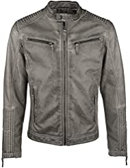 Gipsy Cage Blouson en cuir taupe