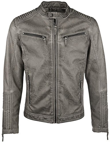 Gipsy Cage Blouson en cuir taupe Taupe