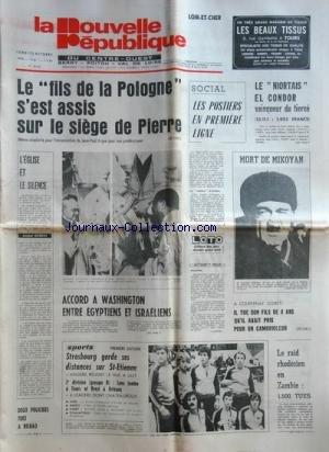 NOUVELLE REPUBLIQUE (LA) [No 10359] du 23/10/1978 ...
