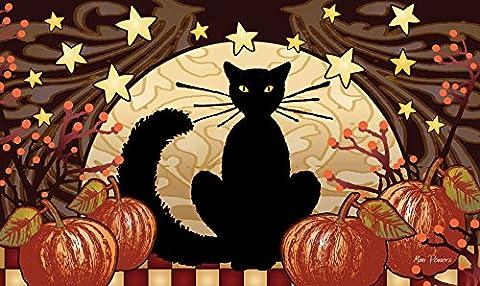 Toland Home Garden 2032726,4cm Moonlight Cat Halloween/Fall