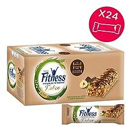 Fitness Barretta di Cereali Cioccolato al Latte Gusto Nocciola, 24 Pezzi