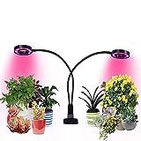 2018 Neueste Version mit Timer LED Pflanzenlampe, 20W Dualkopf Led Grow Light, 48 LEDs, 3 dimmbare Levels, Wachstums-Lampe mit vollem Spektrum, Niello LED Schreibtischlampe für Zimmerpflanzen, Hydrokultur, Gewächshaus, Garten, für zu Hause und im Büro