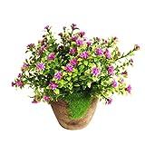 WINOMO Künstliche Pflanzen Simulierte Pflanze Dekorative Bonsai Plastik Blume für Zuhause Dekoration (Lila)
