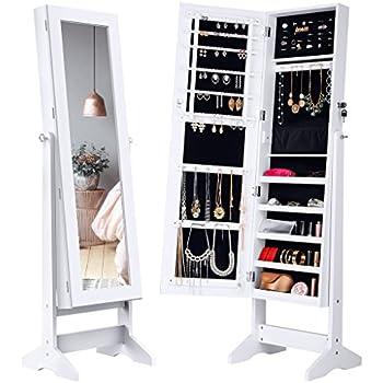 Hartleys White Floor Standing Bedroom Mirror Amp Jewellery