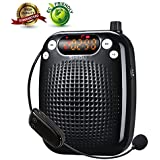 SHIDU S611 UHF Wireless Voice Amplifier Portable Rechargeable Multifunctional With LED Display Amplify Time 15 hours