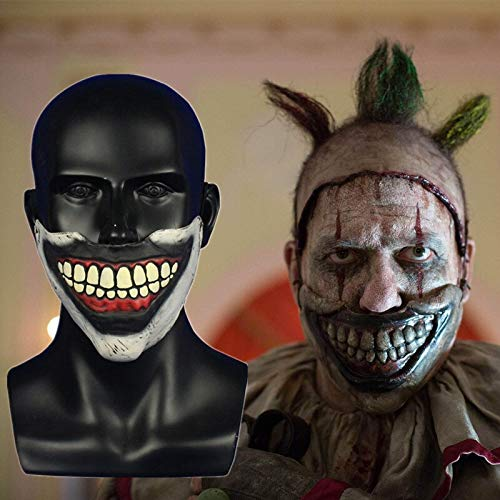 Top Cheap American Horror Story Twisty The Clown Mask Horrible Mask Latex Half Face Mask Cosplay Halloween Party Props Mask