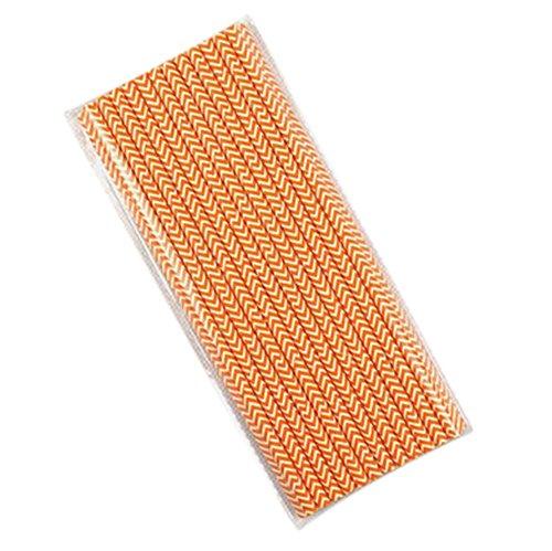 halm Biologisch Papier Trinkhalme Strohhalme für Geburtstag Feiern Partys Orange Wave Form ()
