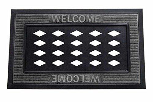 Evergreen Flag Sassafras Welcome Matte Tablett, Grau 18x 30