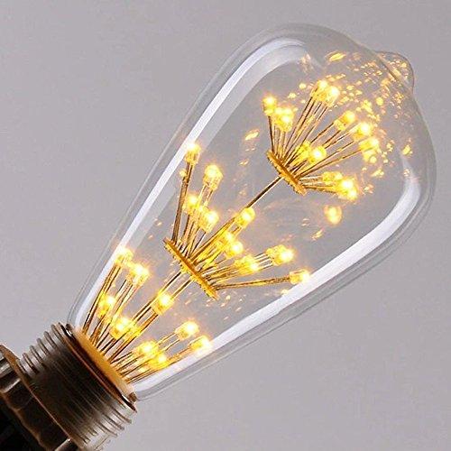 KINGSO E27 ST64 LED Stern Edison Glühbirne 3W 47led Dekorative Vintage Glühlampe Kronleuchter Deko Birne Ideal für Nostalgie und Retro Beleuchtung 220V mit Zertifikat Warmweiß