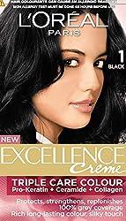 Loreal Hair Care Excellence Creme Hair Colour (No 1 - Black)