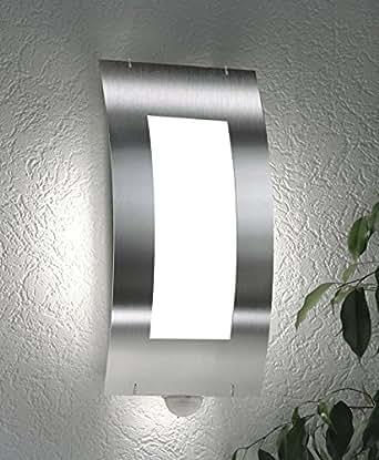 cmd 37 bm wandleuchte edelstahl geb rstet mit bewegungsmelder beleuchtung. Black Bedroom Furniture Sets. Home Design Ideas