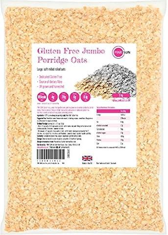 PINK SUN Glutenfreie Haferflocken Kernig 3kg Großpackung - Gluten Free Porridge Oats Bulk Buy Oatmeal