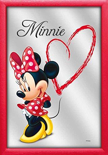 empireposter - Disney - Minnie Mouse Heart - Größe (cm), ca. 20x30 - Bedruckter Spiegel, NEU - Beschreibung: - Bedruckter Wandspiegel mit rotem Kunststoffrahmen in Holzoptik -