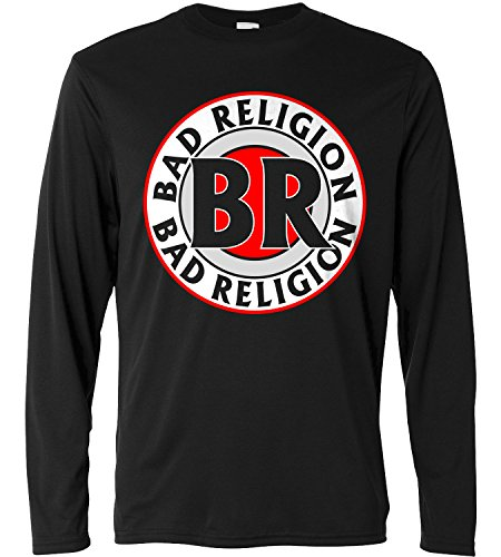 T-shirt a manica lunga Uomo - Bad Religion Circle Logo - Long Sleeve 100% cotone LaMAGLIERIA, L, Nero