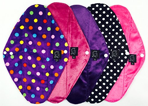 5-pack-pink-collection-overnight-postpartum-cloth-sanitary-pads-csp-355cm-long-x-10cm-wide-14-l-x-4-