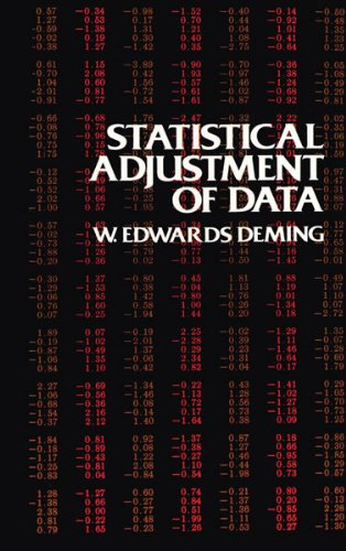 Statistical Adjustment of Data (Dover Books on Mathematics)