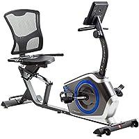 Preisvergleich für TechFit R410 Magnetisches Fitness Recumbent Fahrrad Ergometer - Cardio- Fitnessfahrrad mit einstellbarem Sattel, Puls-Sensoren und LCD Monitor. Resistenter Heimtrainer für die Perfekte Figur.