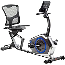 TechFit R410 Bicicleta Estática Reclinada, Ideal para el Entrenamiento de Recuperación, Sillín Ajustable,