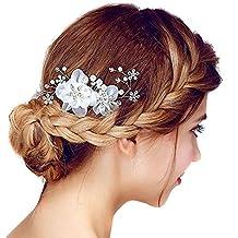 couture-discount peine novia boda diademe Jewerly Perla Flor Cristales  Brillantes ee46227a5b8b