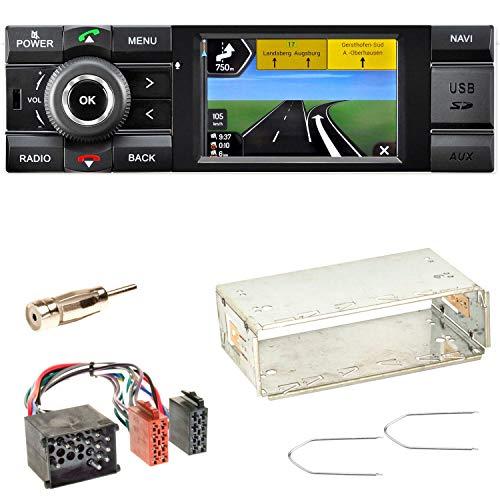 Kienzle MCR 1031 NAV Autoradio Digitalradio DAB+ Bluetooth USB AUX 1-DIN Navigation MP3 WMA FLAC Einbauset für BMW 3er E36 Z3 -