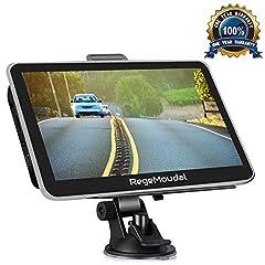 Idea Regalo - Navigatore GPS per Auto,Regemoudal Europa Auto Navigatore 7 pollici 8 GB di ROM 256 M di RAM, Aggiornamento a Vita