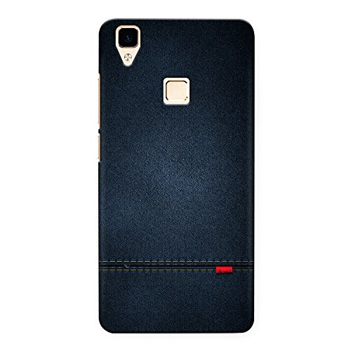 CrazyInk Premium 3D Back Cover for Vivo V3 Max - Blue Leather Texture CIVV3MB059