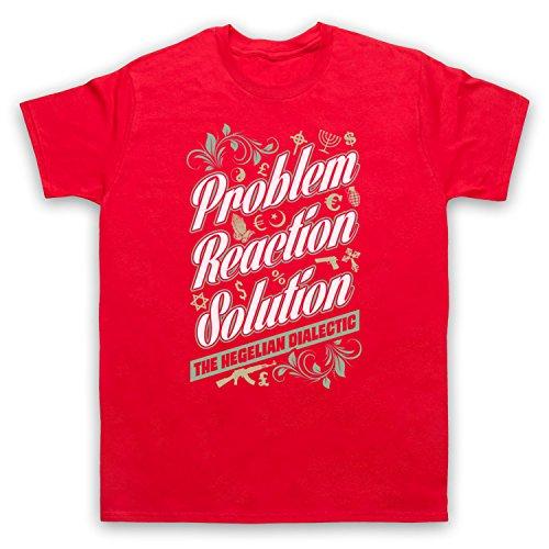 Problem Reaction Solution The Hegelian Dialectic Herren T-Shirt Rot