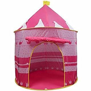 Ardisle Rosa Krone Fee Prinzessin Märchenschloss Pop Up Kinderzelt mit Windows und Rollen Up Tür Rosa Mädchen Innen-oder Draussen-Einsatz Mädchen Rosa Spielzeug Spiel Zelt / Spielhaus / Den