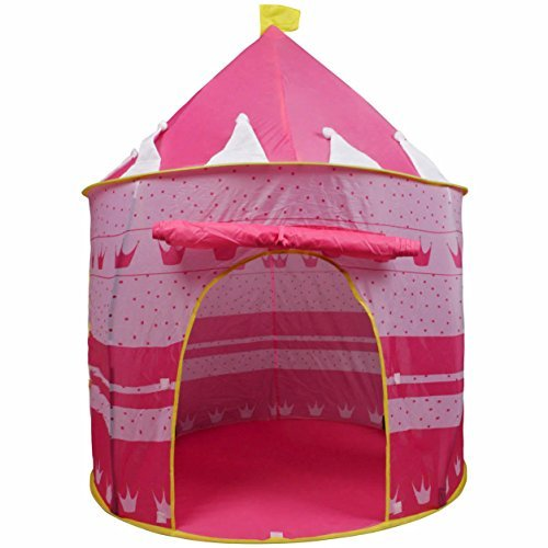 ardisle-pink-crown-fairy-princess-tale-castle-pop-up-childrens-tent-with-windows-and-roll-up-door-pi