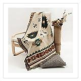"Geométrico manta alfombra sofá étnica, tapiz tapices de pared Navajo, beige, 50""X60"""