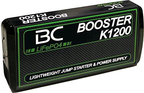 BC Battery Controller Booster K1200-12V 400A - Starthilfe-Booster für Auto und Motorrad + Tragbarer USB Power Bank 8000mAh für Smartphones und Tablets + LED-Taschenlampe - 8000 Usb