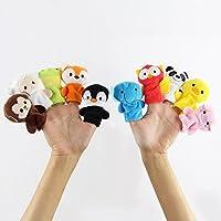JYSPORT Marionettes à doigt Bébé Peluche Jouets Zoo Animaux en racontant des histoires (Animal)