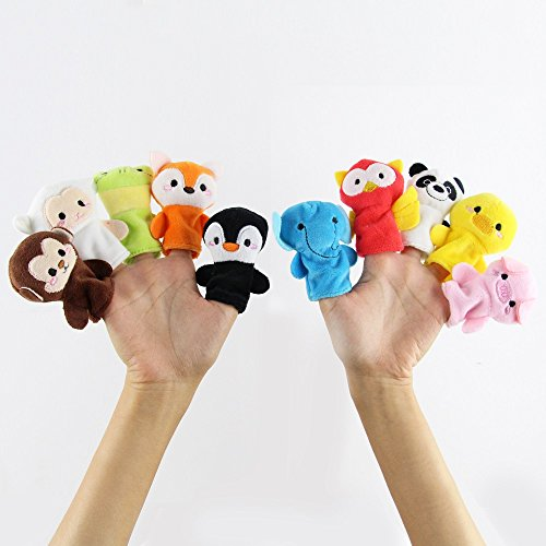 JYSPORT Fingerpuppen Tiere Finger Puppets Handspielpuppen Adorable Baby-Spielzeug witziges Lernspielzeug (Animal) (Farm Animal Finger Puppets)