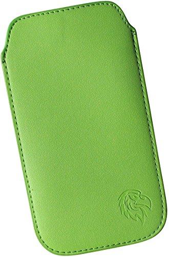 Iphone 3g Adler (Handy Hülle Schutz-Tasche für Apple iPhone 2, 3 G und 3 GS, Pull-tab herausziehbar, Etui genaeht mit Rausziehband, duennes Cover Motiv Adler XS Gruen)