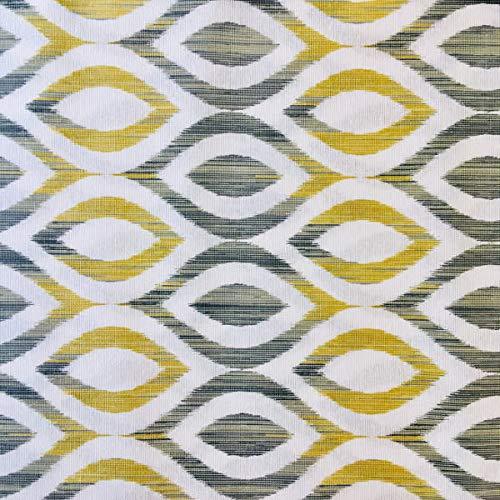 Tela amarilla y gris para cortinas, Ancho 280 cm