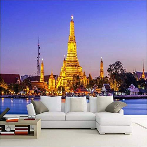 3D Wandbild Benutzerdefinierte 3D Fototapete Thai Palace Jinta Tv Hintergrund Dekoration Wohnzimmer Schlafzimmer 3D Wandbilder Tapete Kunst-400X280cm