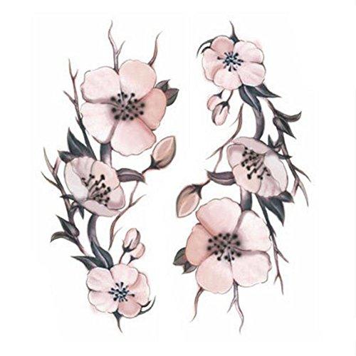 5eb59bd669a05 Creative/hommes sexy et femmes tatouage temporaire étanche Stickers Fleurs