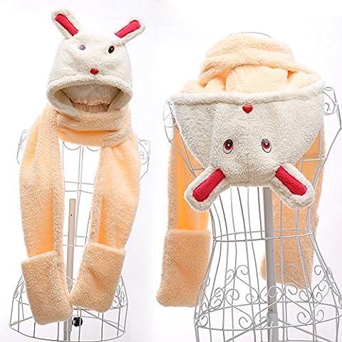 WJP sciarpa Hat guanti tre Kit pezzo coreano Onda a mano moda inverno cute calda lana lavorata a maglia cappelli insiemi W-410
