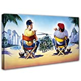 Terence Hill und Bud Spencer - Vier Fäuste gegen Rio - Leinwand (120 x 60 cm) - Renato Casaro Edition (120 x 60 cm)