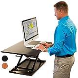 Stand Up Desk Store AirRise Höhenverstellbarer Schreibtisch (Schwarz)
