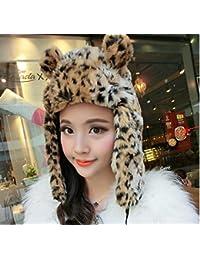 MHGAO Ear bizzarro cap Inverno Caldo Ispessimento Antivento Cappello  Esterno per Le Signore 3b74da6247d2