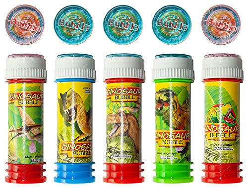 diverse 36 x Seifenblasen mit Geduldspiel 60 ml Bursting Bubbles Dino Party Tombola