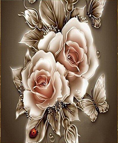 aurnew 5D Strass Kristall Diamant Home Decor DIY Gemälde Rose & Schmetterling Kreuzstich Muster Diamant Stickerei 35*35 a -