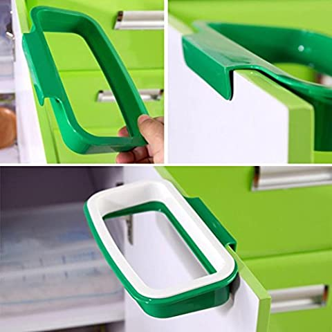 2017 Hot sale! Xshuai® Hanging Kitchen Cupboard Cabinet Tailgate Stand Storage Garbage Bags Holder Hanging Bags Trash Rack