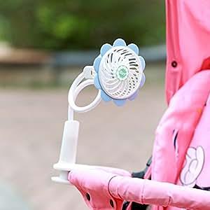 Mini ventilatore elettrico portatile a clip, con USB e alimentazione a batteria, flessibile, per passeggino o lettino, PC, portatile o scrivania