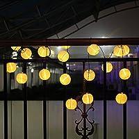 LEAZEAL luci solari giardino, luci con 20luci LED con tessuto