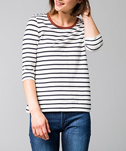 zero Damen T-Shirt mit Streifen 403014 Blue Black