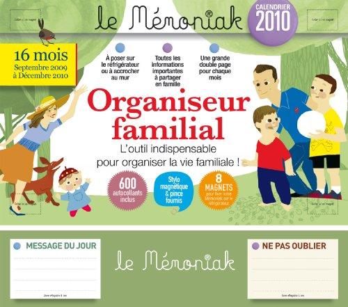 Organiseur familial : Calendrier 2010 par Editions 365